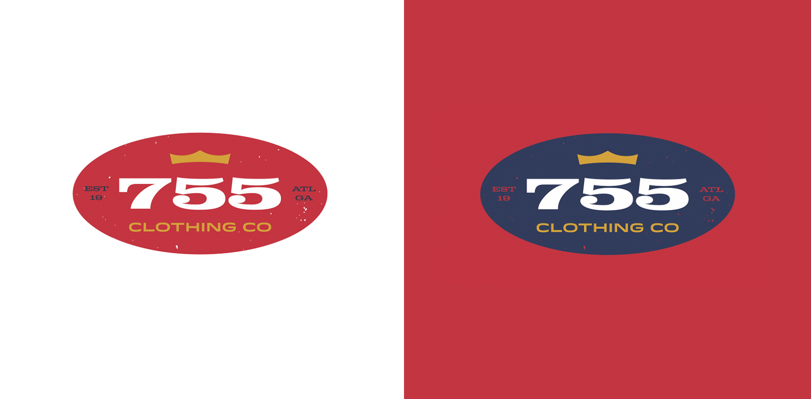 "Official sports branding concept for the Atlanta Braves 755 Clothing Co. honoring ""The Homerun King"" Hank Aaron"