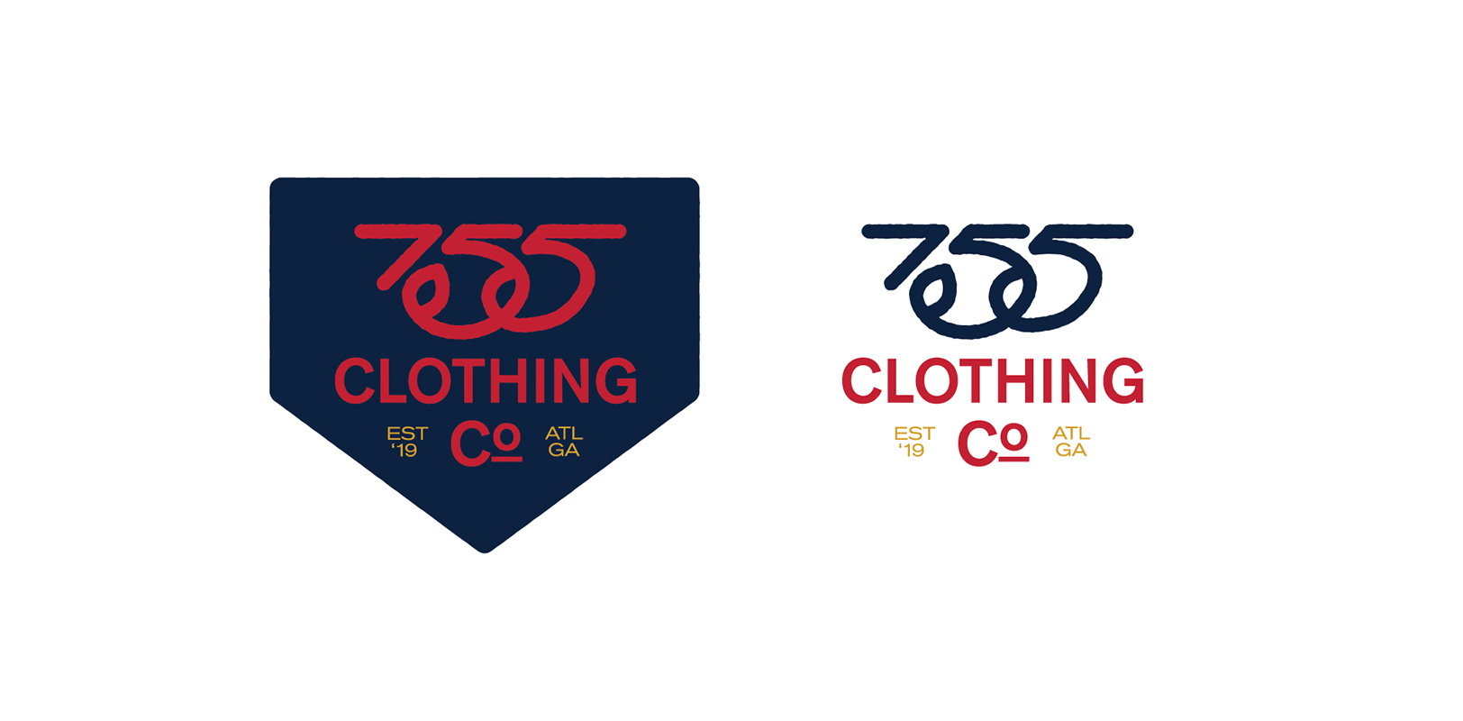 "Sports branding concept for the Atlanta Braves 755 Clothing Co. honoring ""The Homerun King"" Hank Aaron"