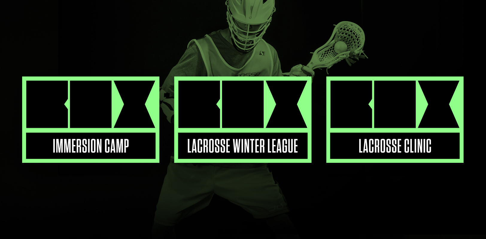 Sports branding for 3d Lacrosse's BOX properties
