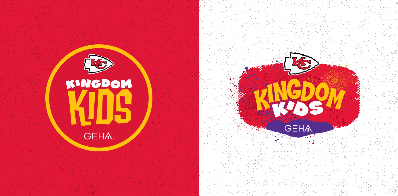 Sports logo design concepts for the Kansas City Chiefs Kingdom Kids program