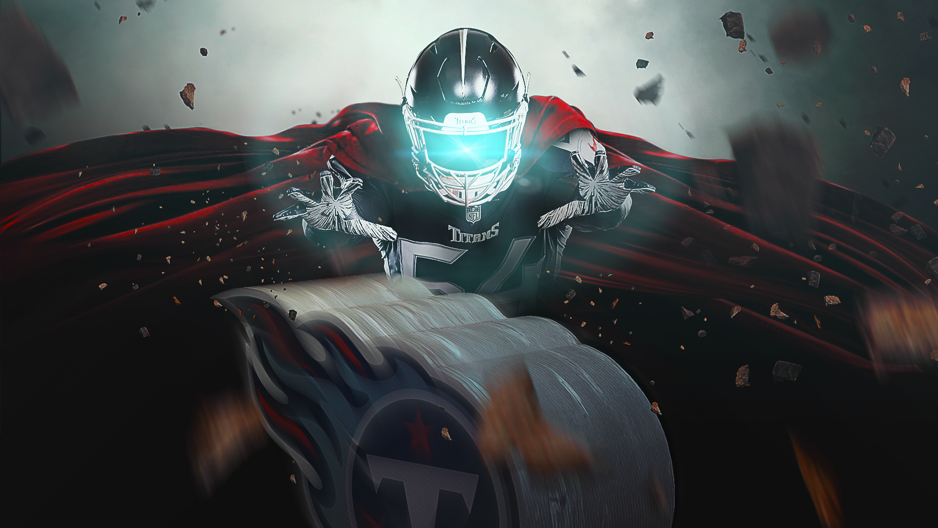 Sports Design / SMsports ›› Visual Design Composite for National Superhero Day for the Tennessee Titans