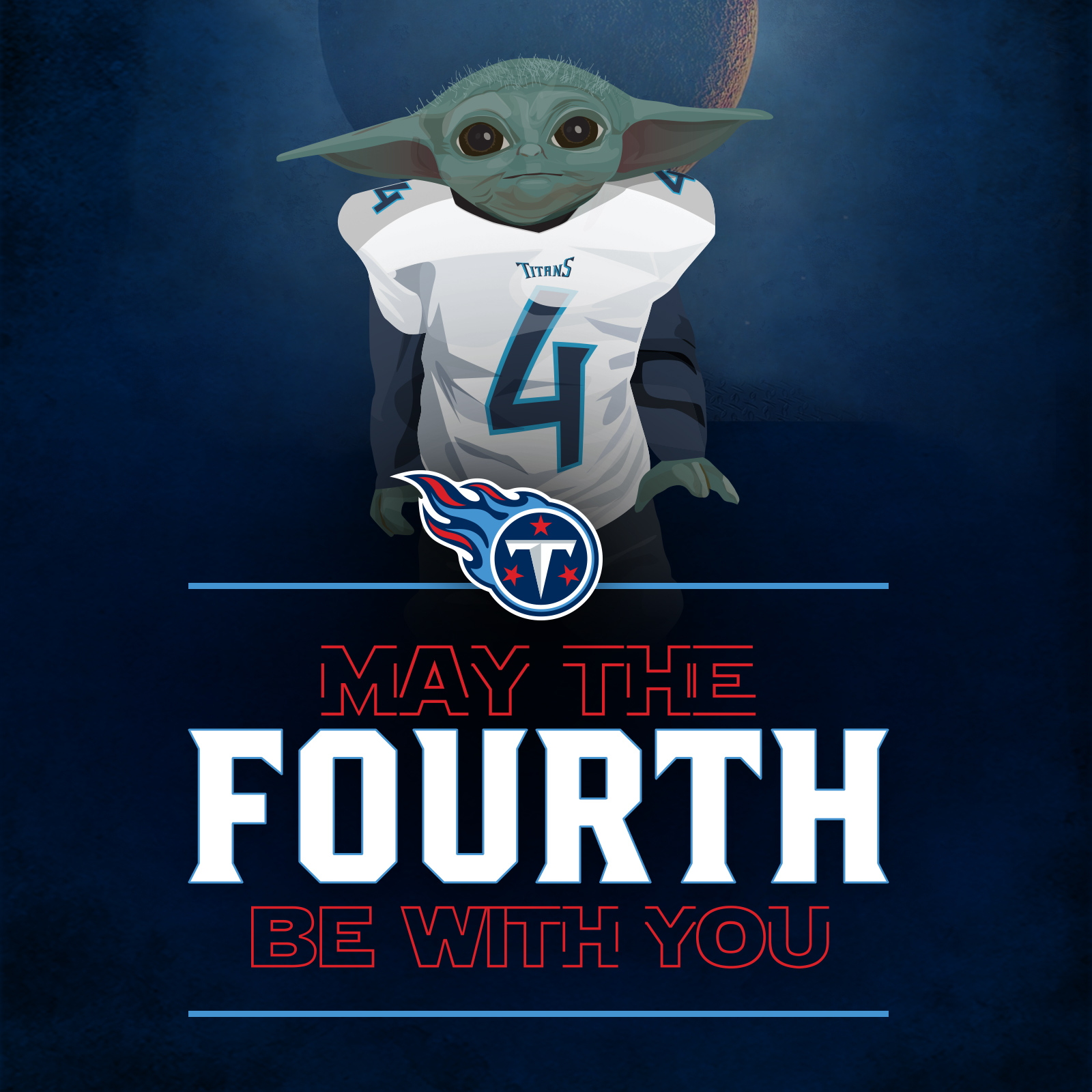 Sports Design / SMsports ›› Visual Design and Illustration for Star Wars Day for the Tennessee Titans