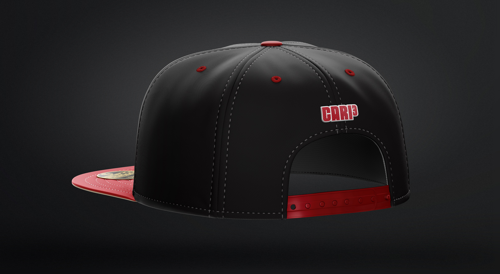 Athlete brand for Matt Carpenter mocked up on a flatbill hat