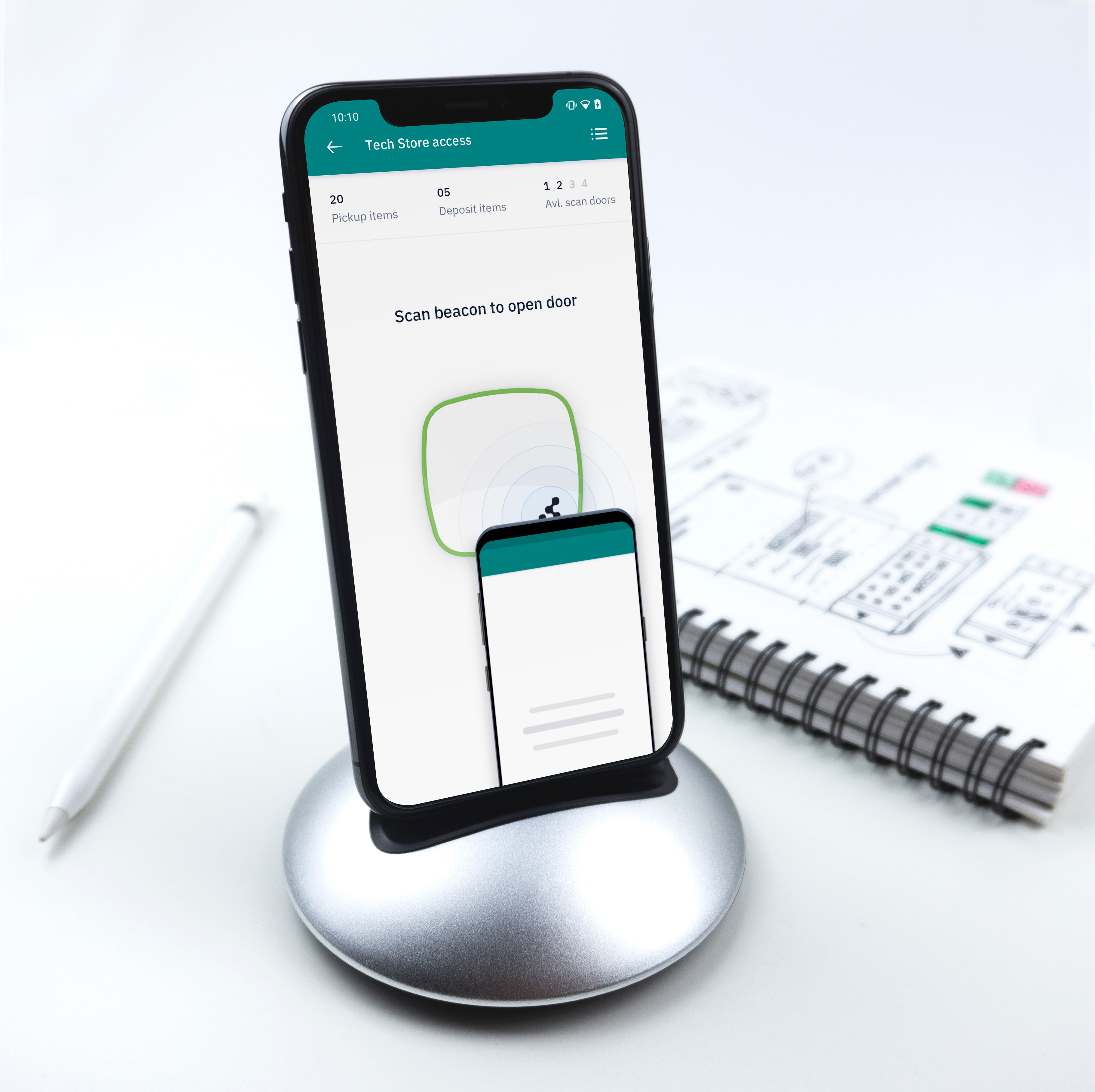 Automated Tech Store app mockup