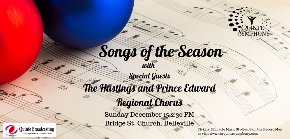 Songs of the Season presented by Quinte Symphony in support of Gleaners Food Bank