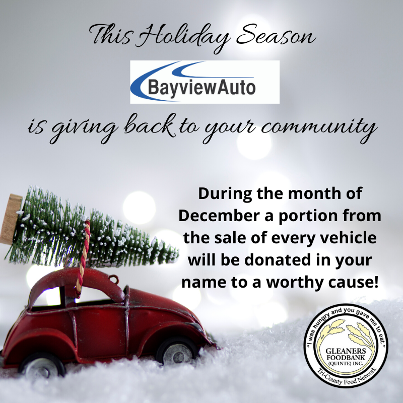 Bayview Auto is giving back to the community this holiday season