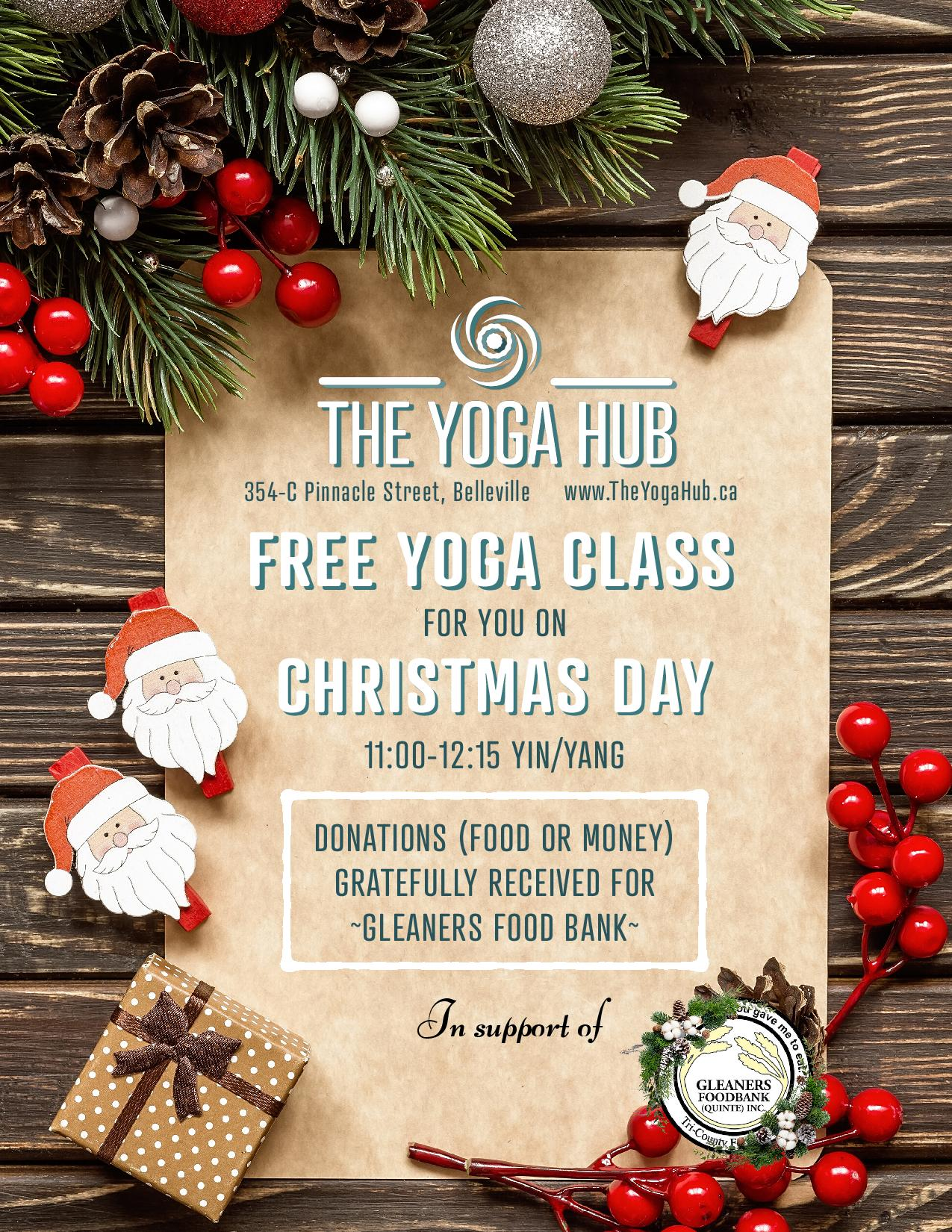 Free Yoga class @ The Yoga Hub