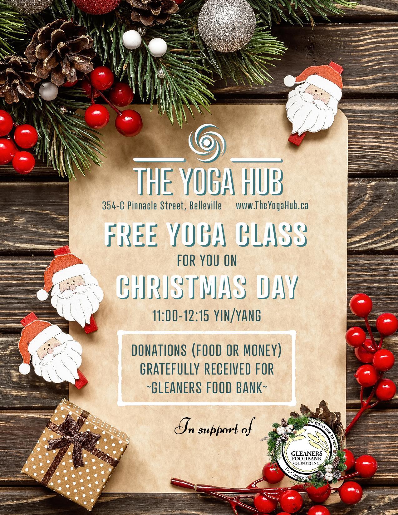 Free Yoga Class on Christmas Day!
