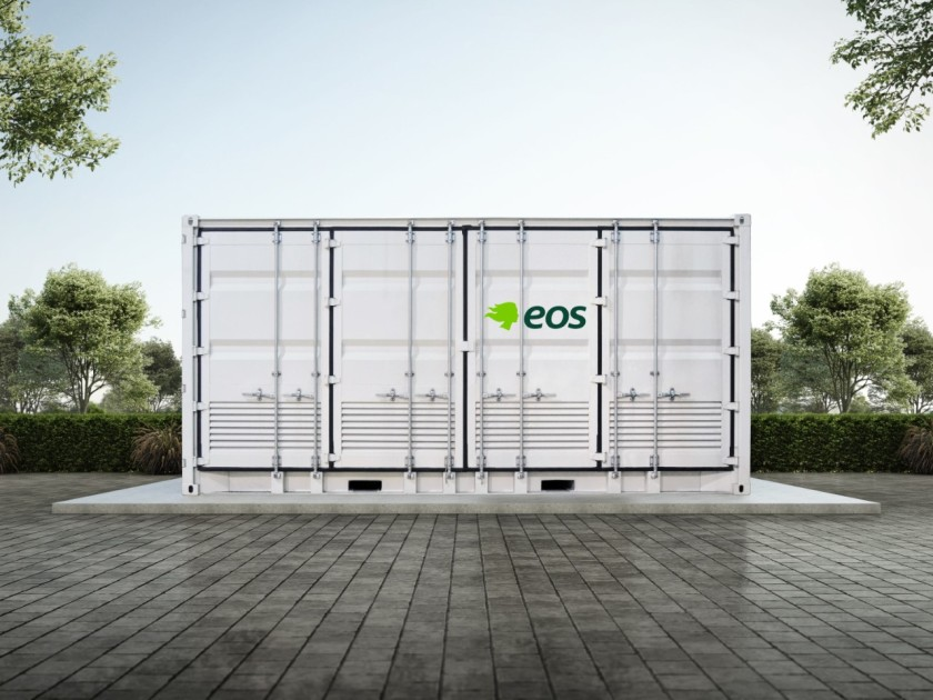 A zinc-based battery storage installation from New Jersey-based Eos Energy.