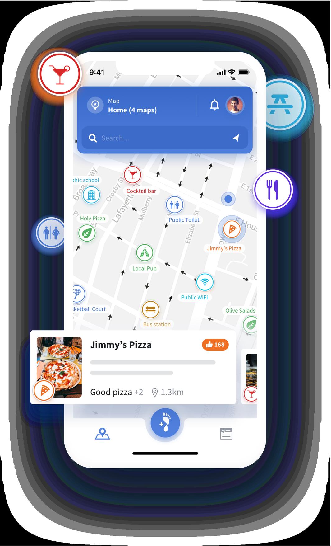 STEPS App Main Screen Map