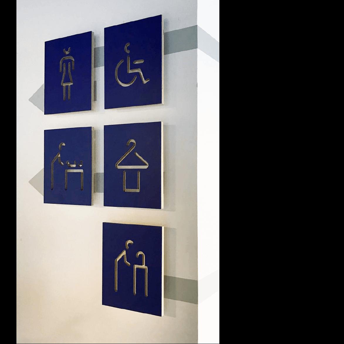 signage system design for dov hozoren lasry tamar bar dayan
