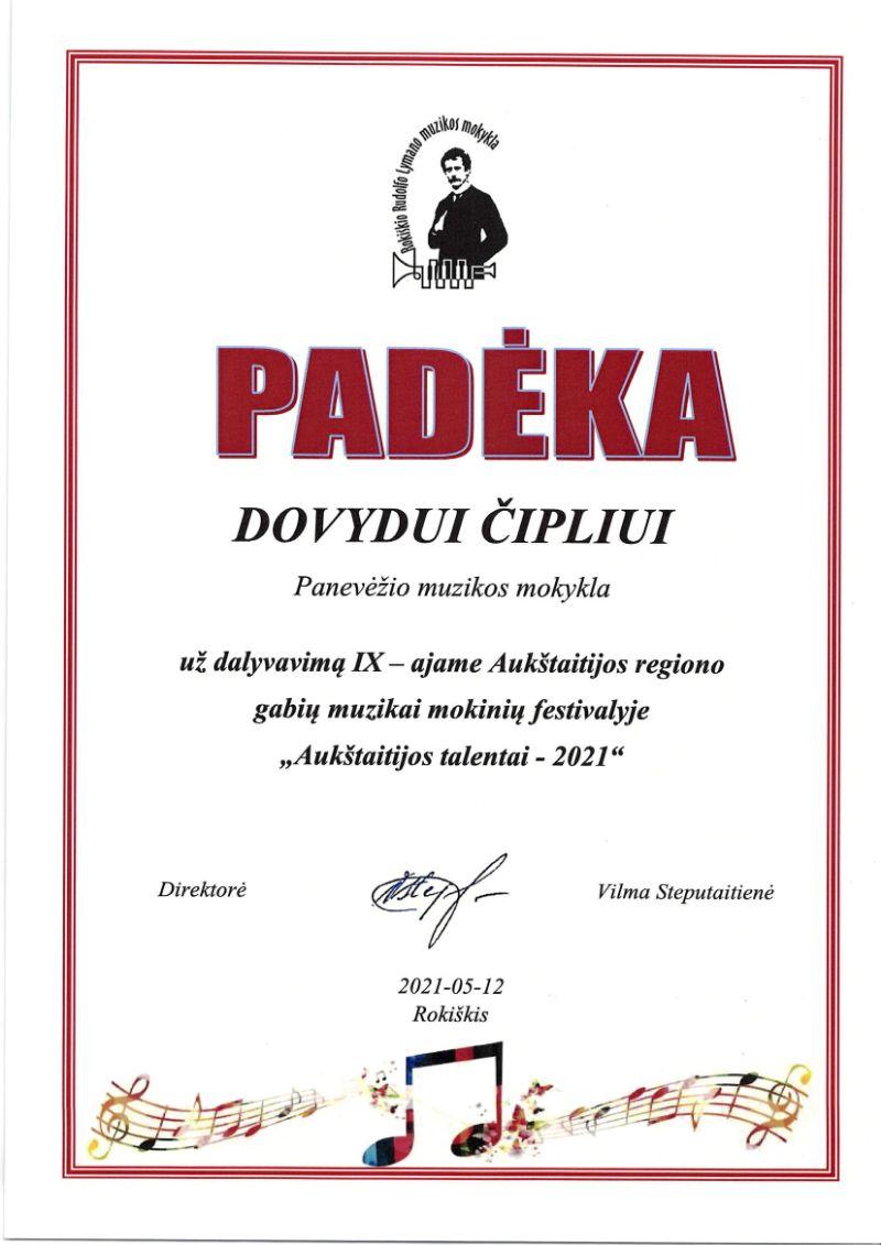 """IX Aukštaitijos regiono gabių muzikai mokinių festivalis """"Aukštaitijos talentai – 2021"""""""