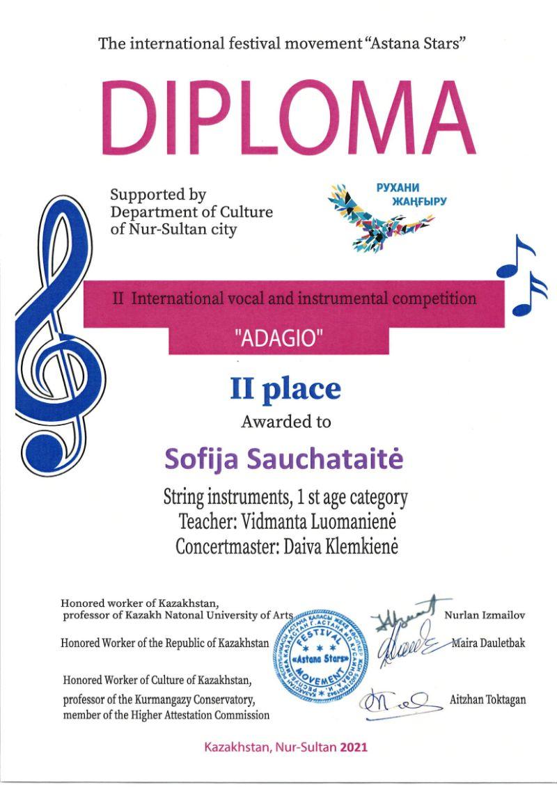 """II tarptautinis vokalinės ir instrumentinės muzikos konkursas """"Adagio"""""""