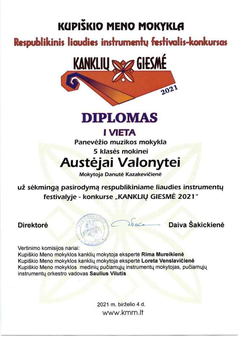 """Respublikinis liaudies instrumentų festivalis – konkursas """"Kanklių giesmė 2021"""""""