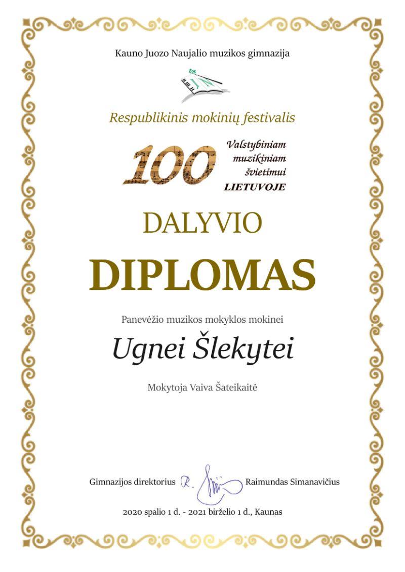 """Respublikinis mokinių festivalis """"100 Valstybiniam muzikiniam švietimui Lietuvoje"""""""