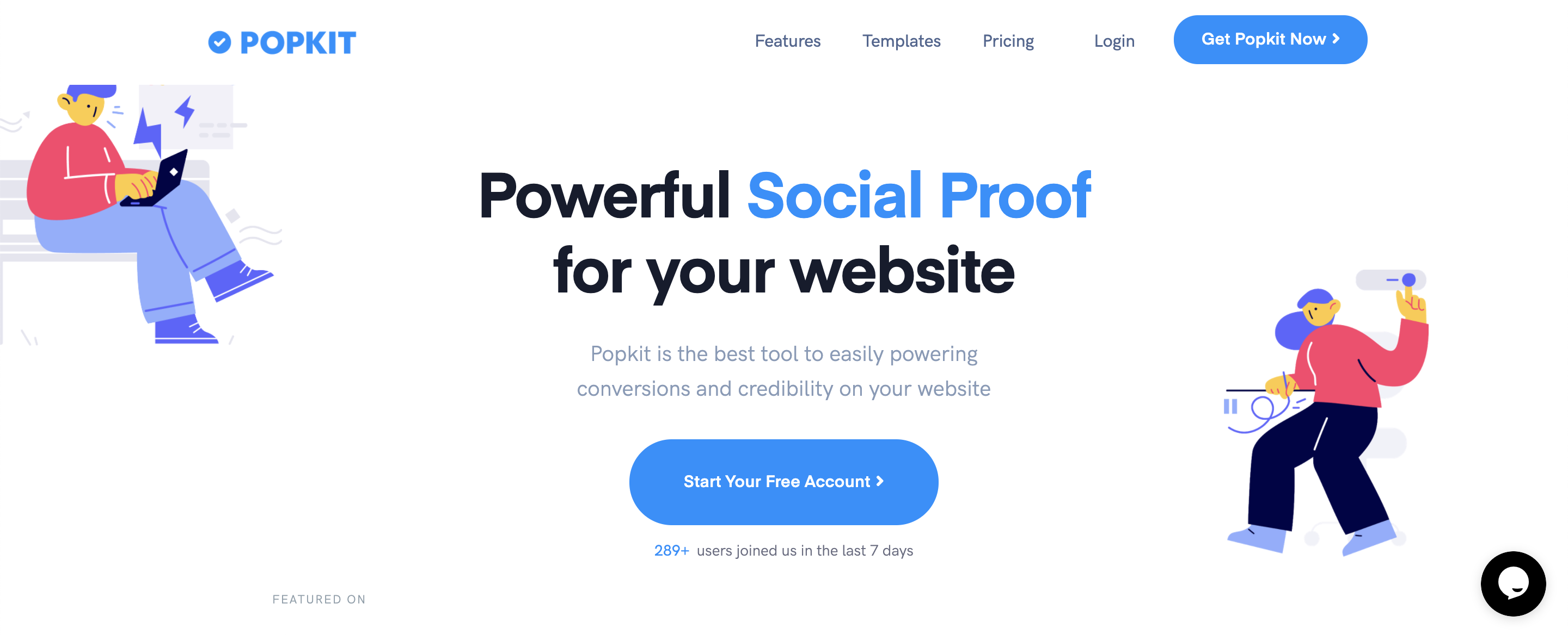 conversion social proof landing page