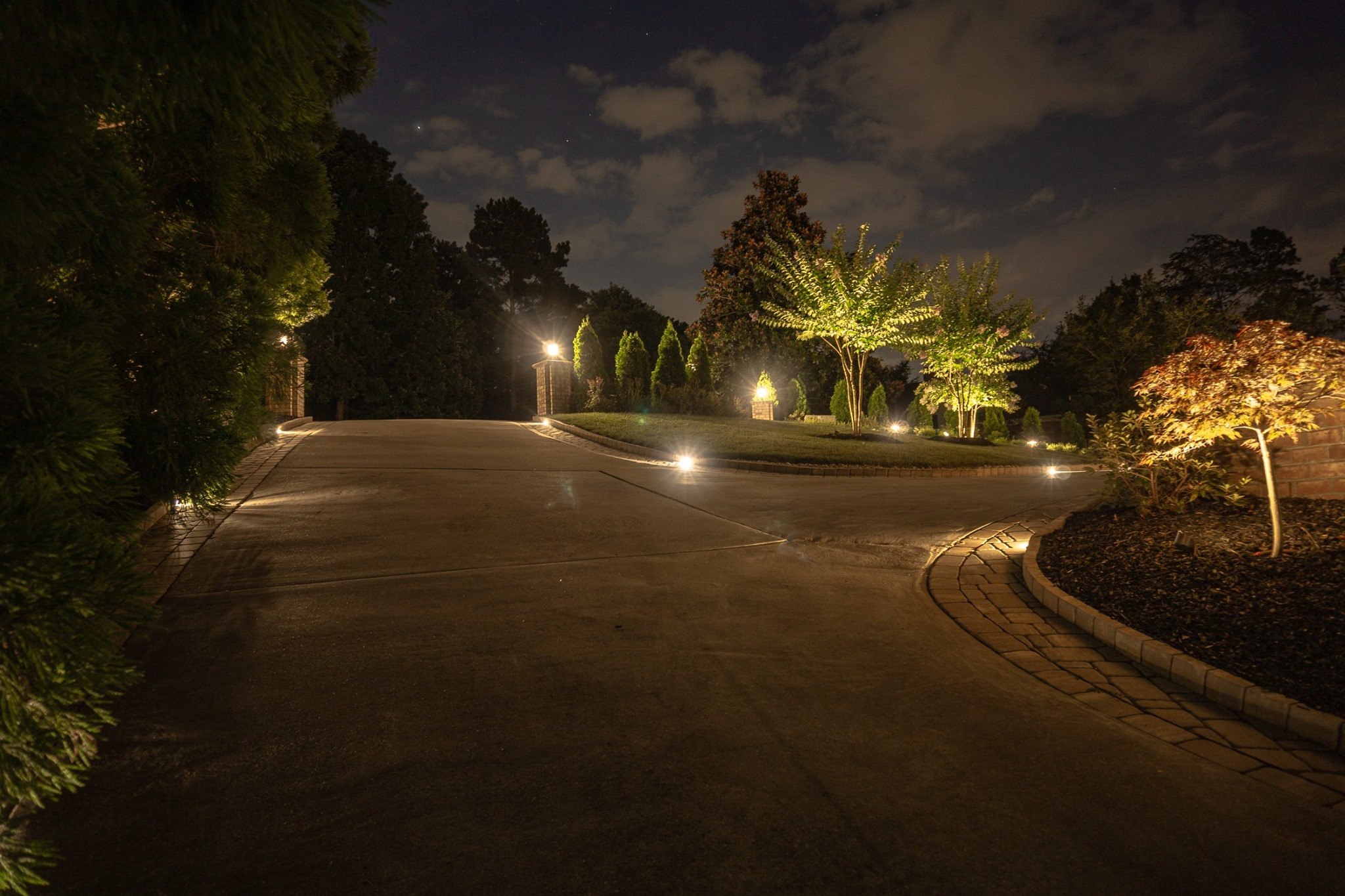 Path and Driveway Outdoor Lighting In Charlotte
