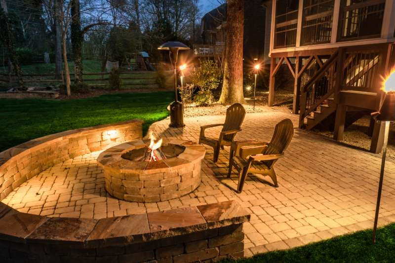 Home Exterior Outdoor Lighting In Charlotte