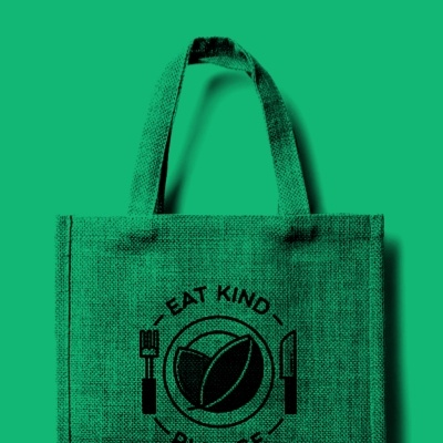 A environmentally-friendly shopper bag to raise awareness about the Eat Kind Pledge