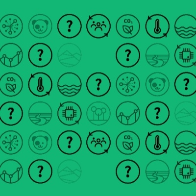 A bespoke vector icon set to illustrate the different themes of the Conservat100n Project