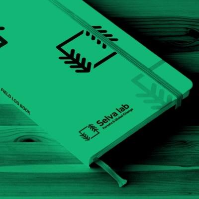 Notebook design for Selva lab branding project