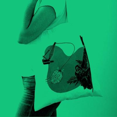 Anthropocene illustrated, palm oil tote bag
