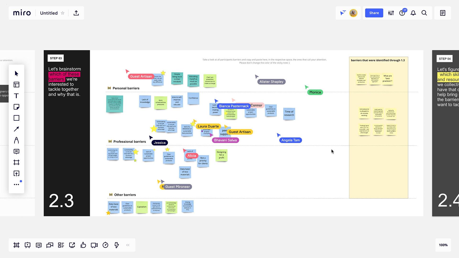 tackle experimental co-design workshop screenshot