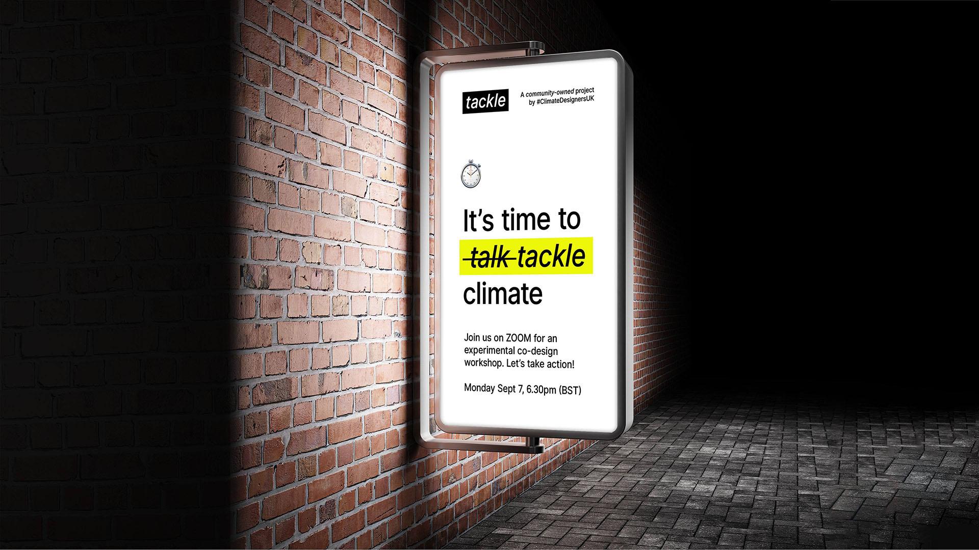 Promo for tackle's experimental co-design workshop