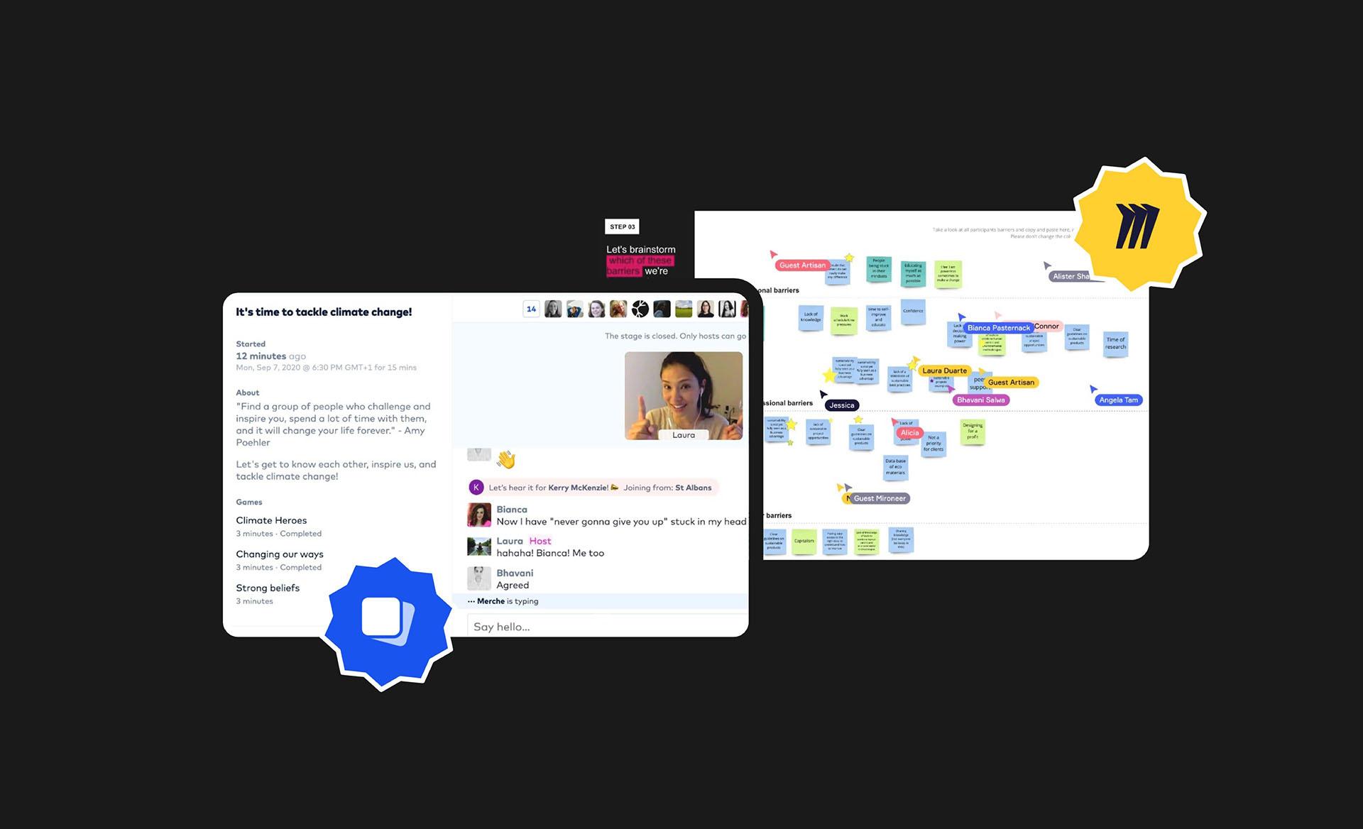 tackle experimental co-design workshop screenshots