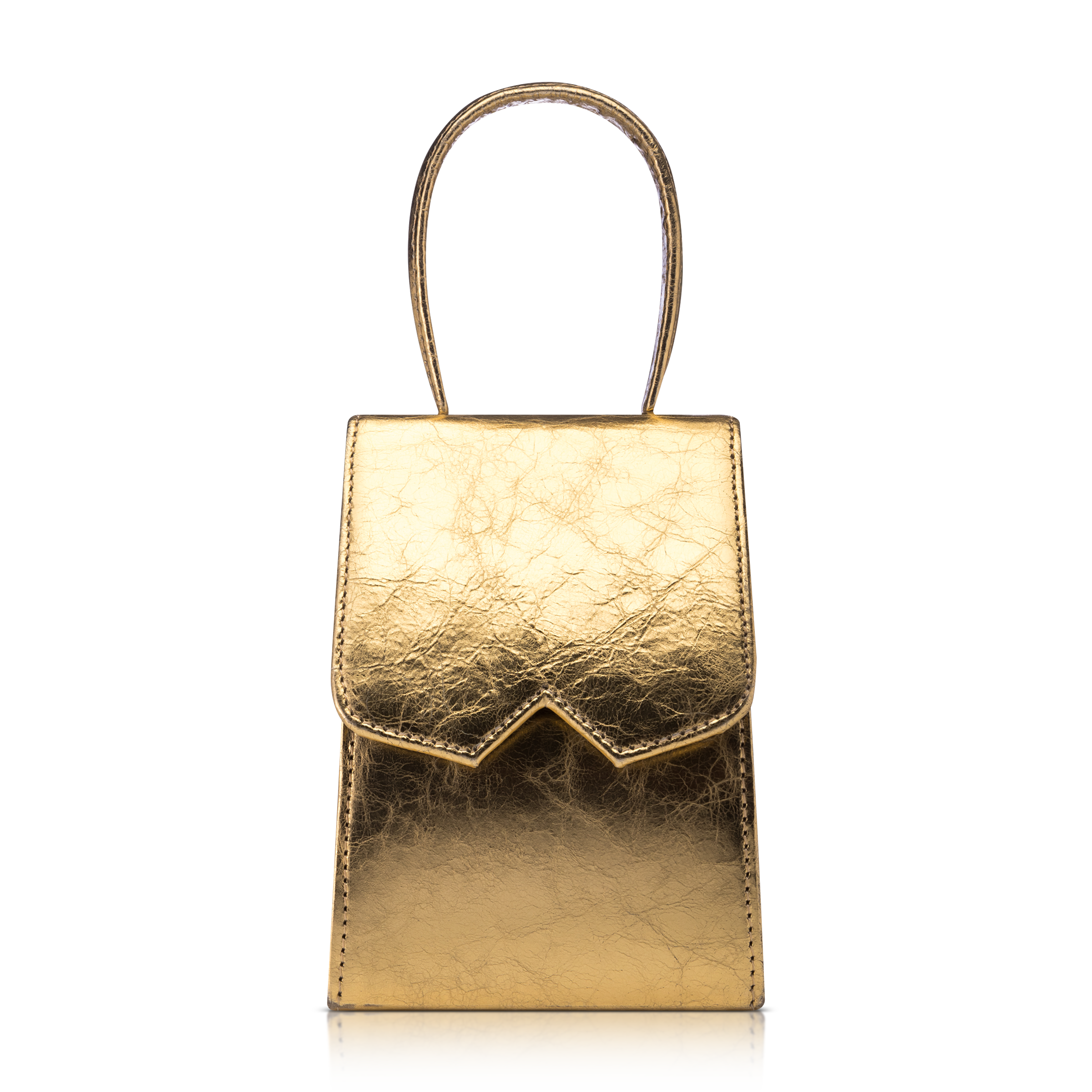 Golden bag product photo