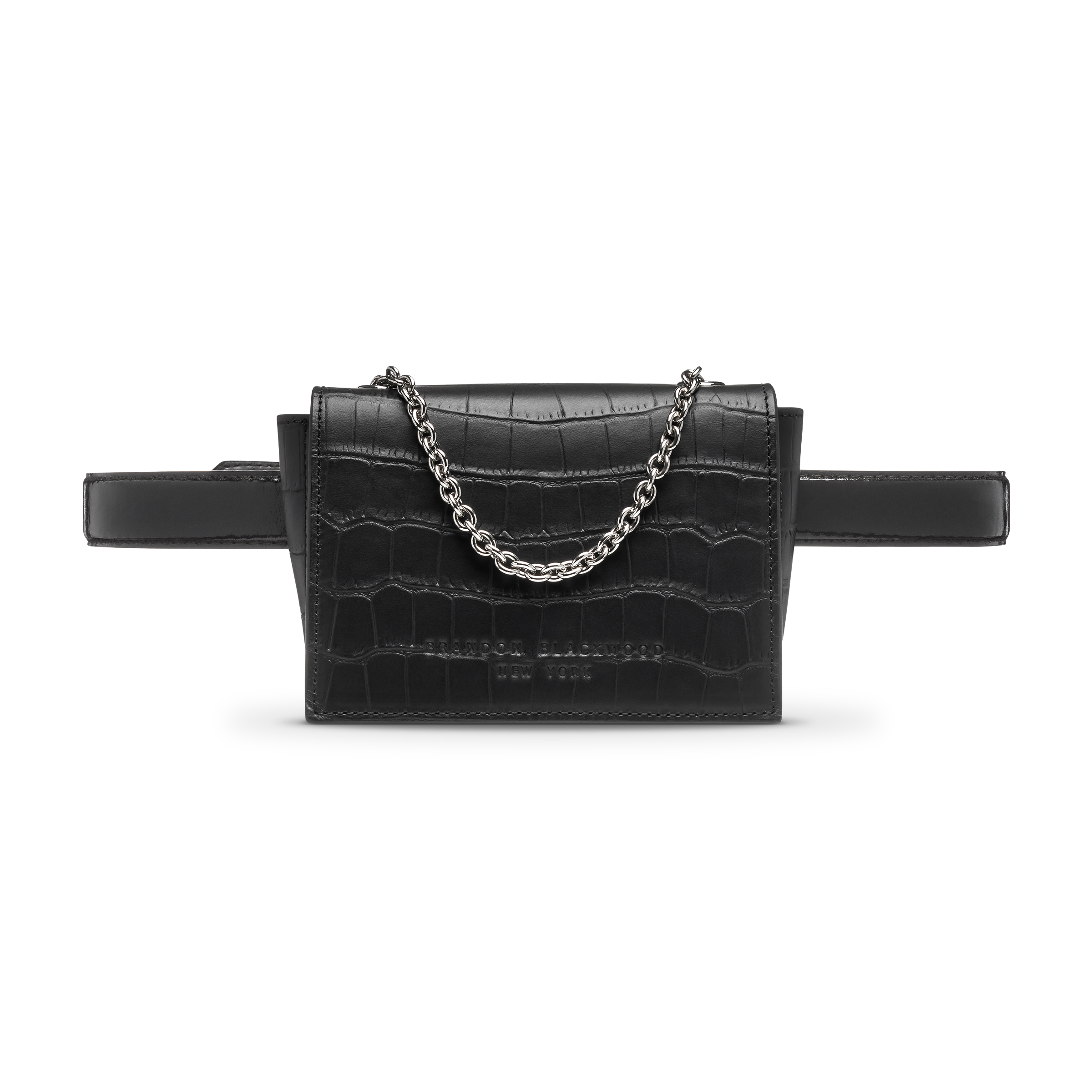 Black belt bag product photo