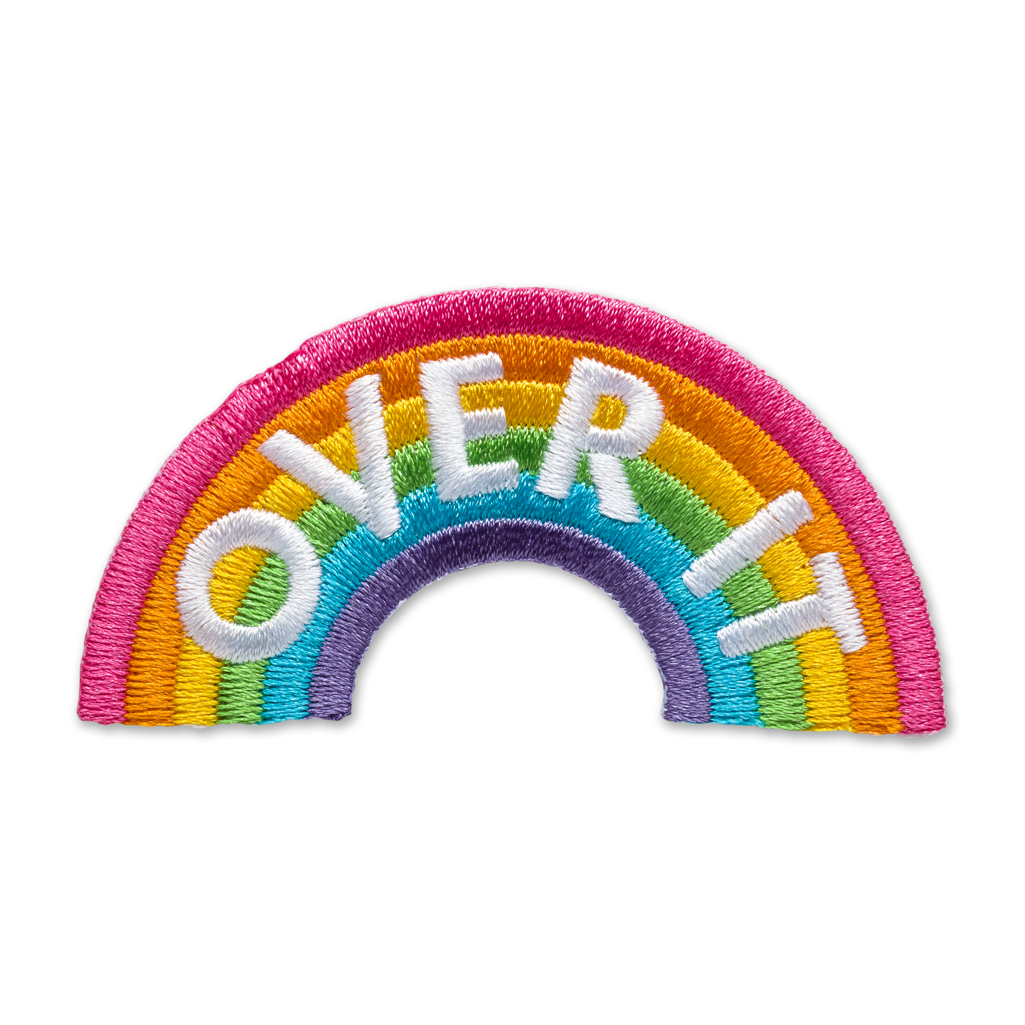 Rainbow patch product photography