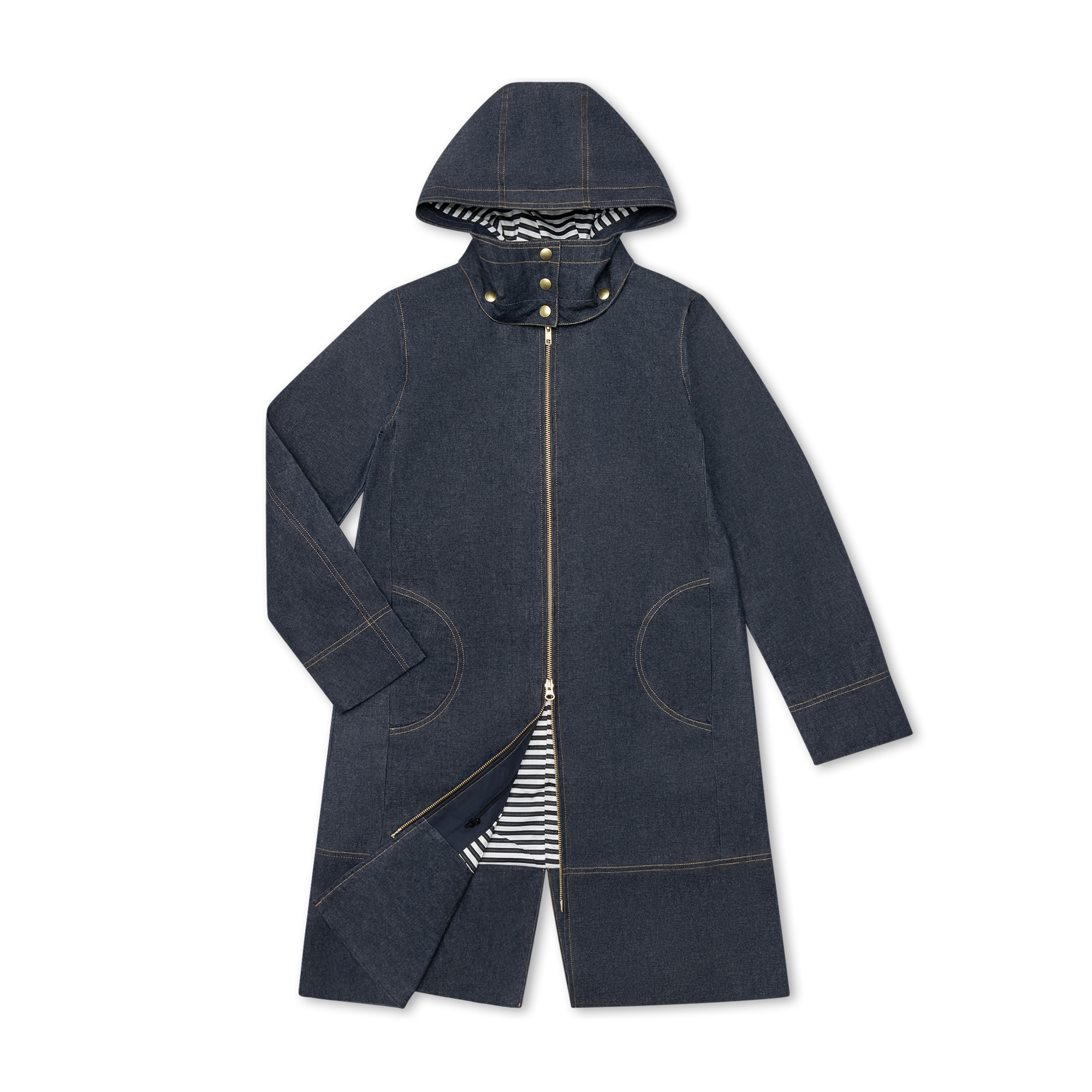 Parka flat lay product photo