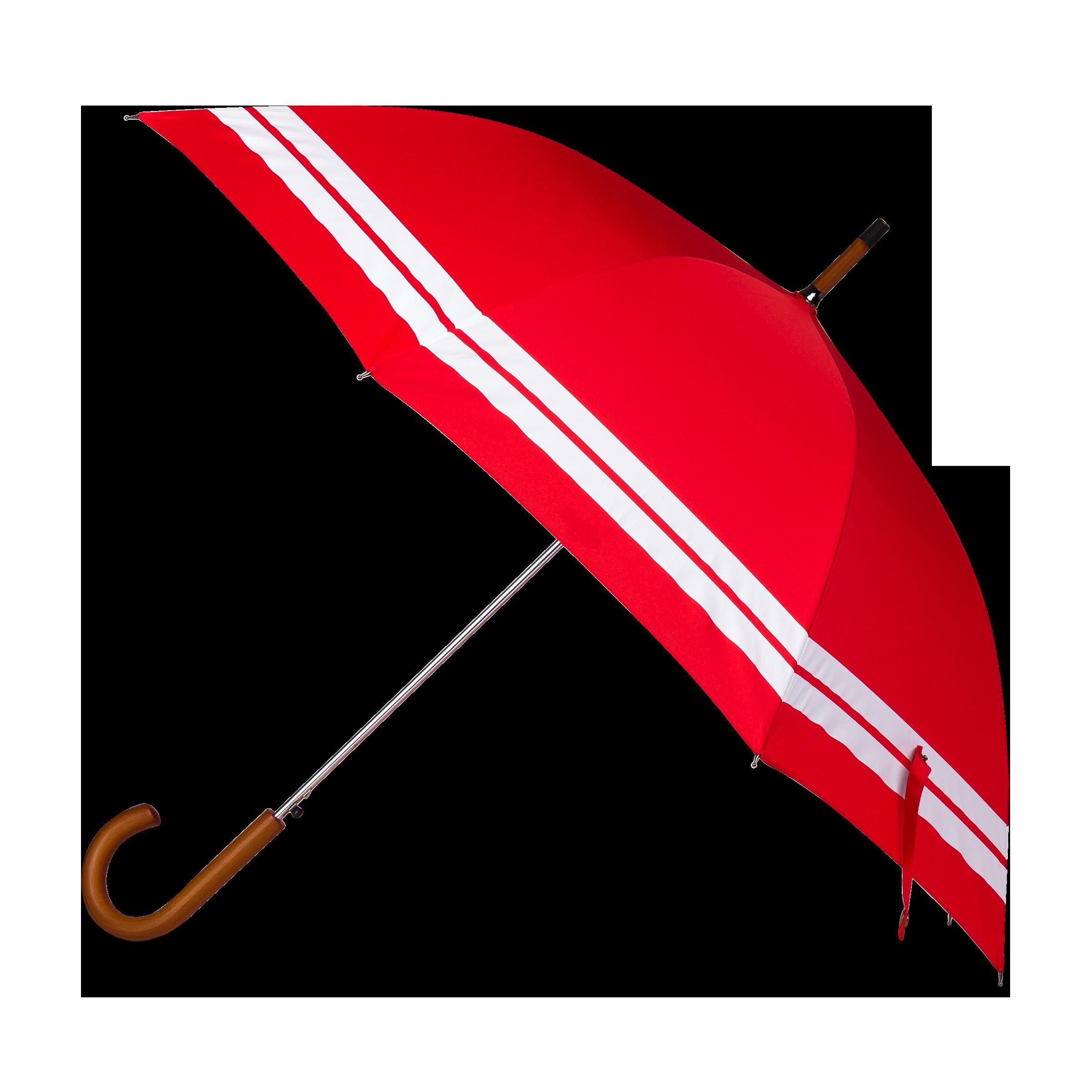Red umbrella product photo
