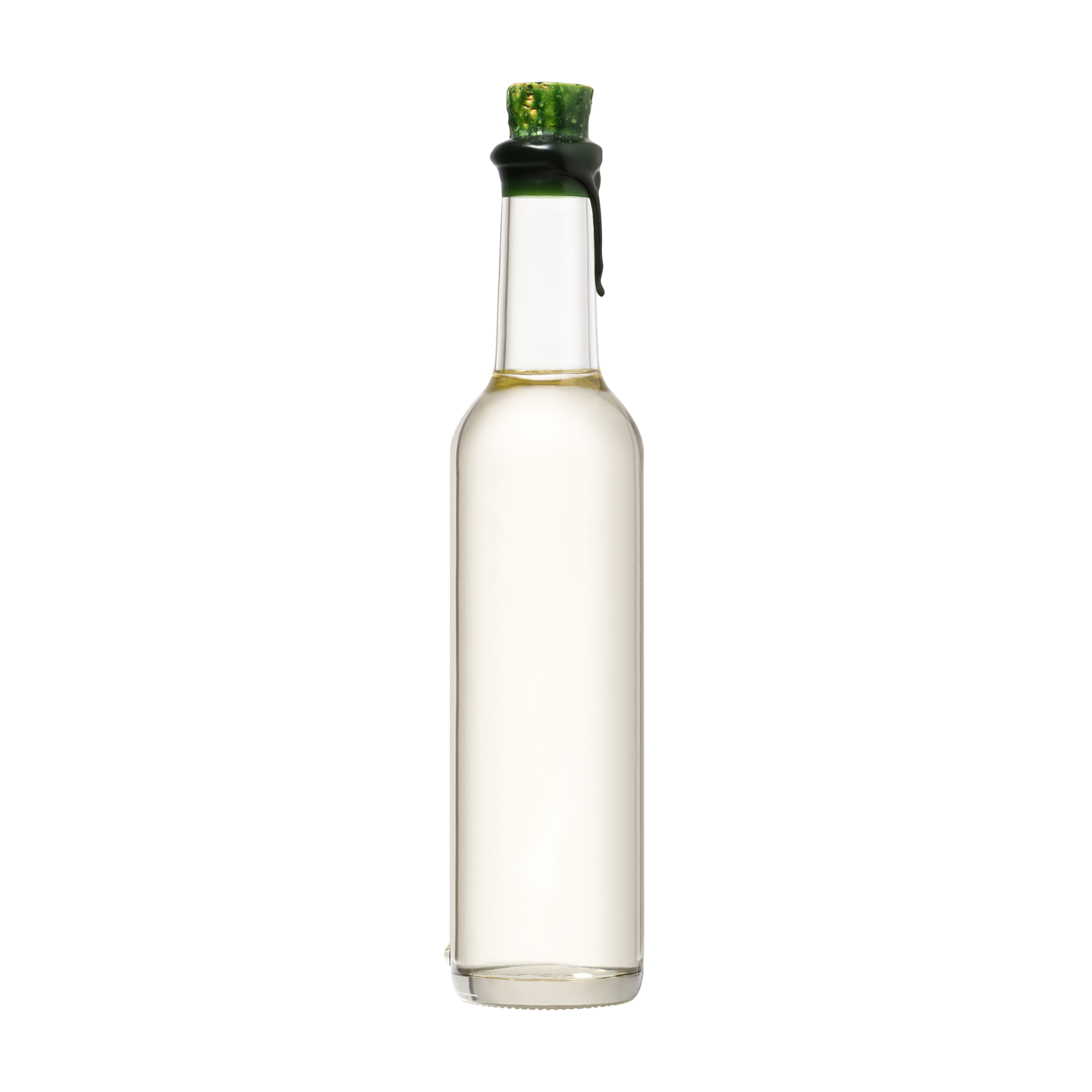 Clear bottle product photography