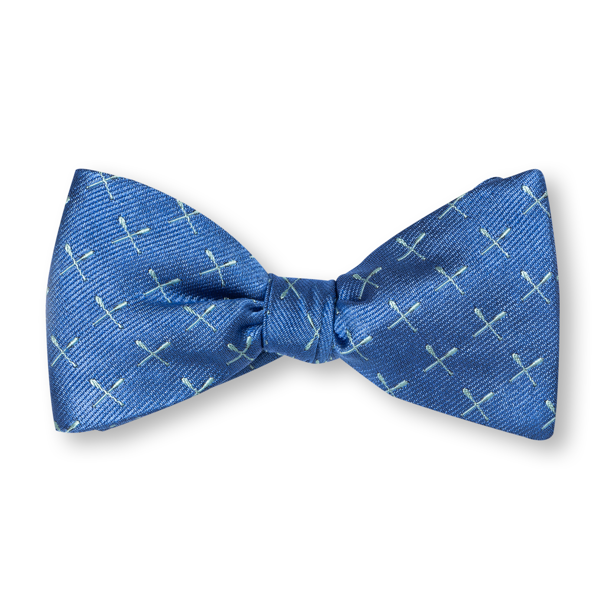 blue Bow ties product photography