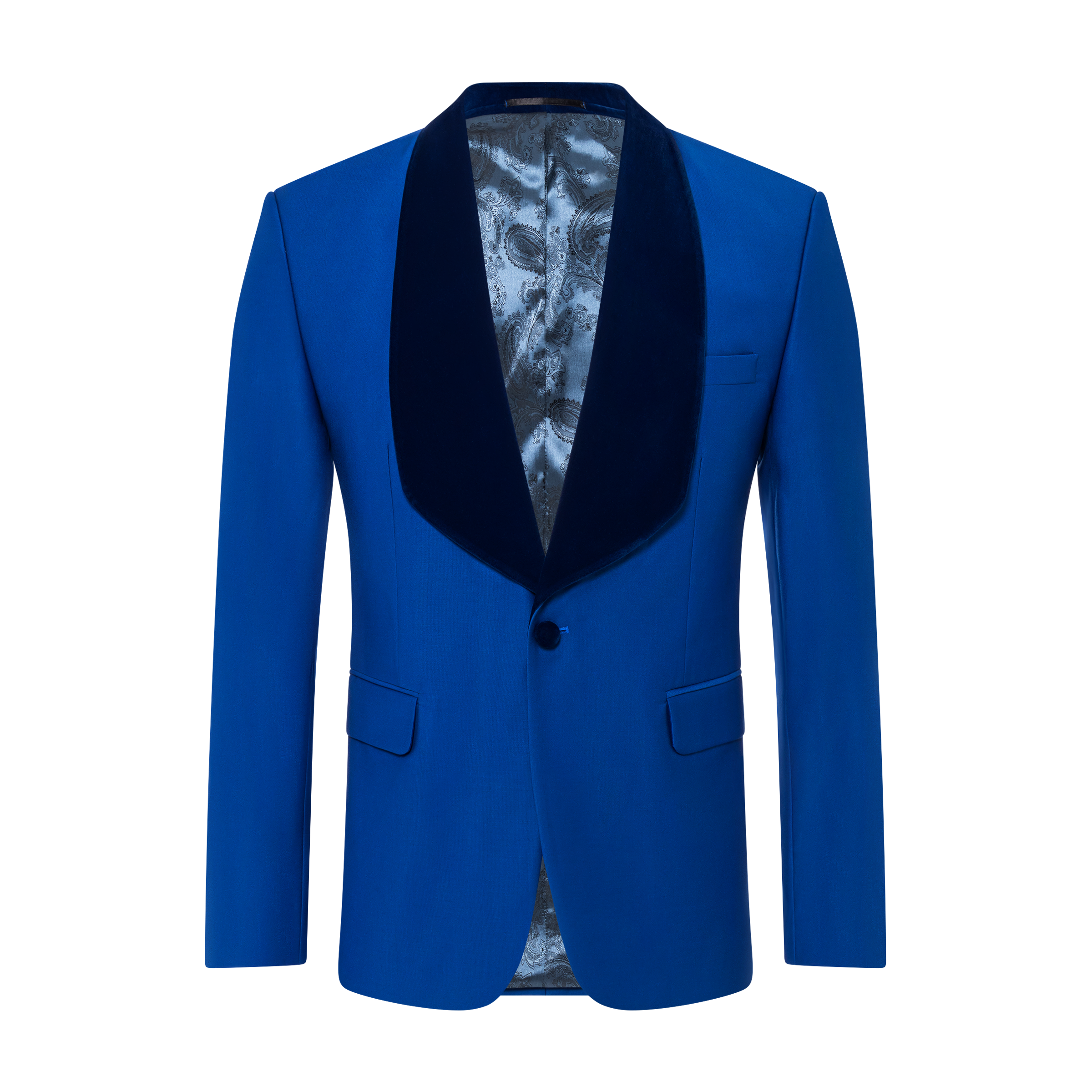 blue jacket product photography