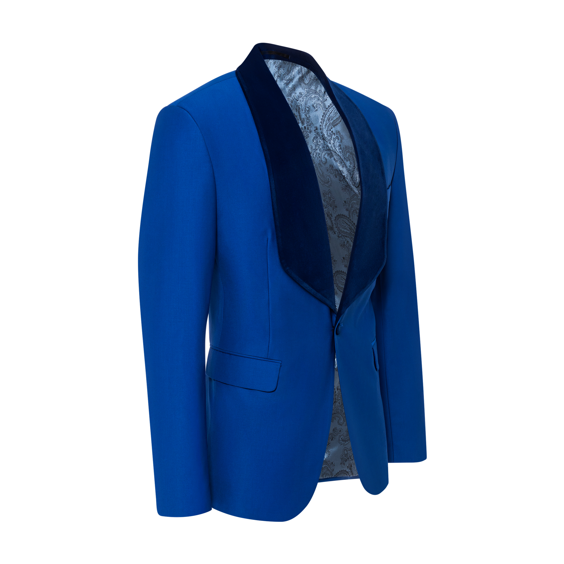blue jacket product photo