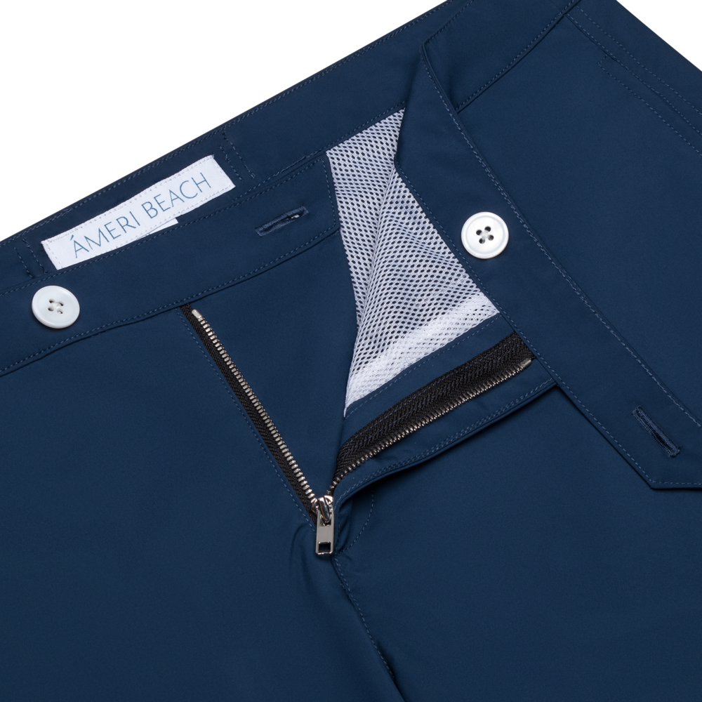 blue shorts product photography
