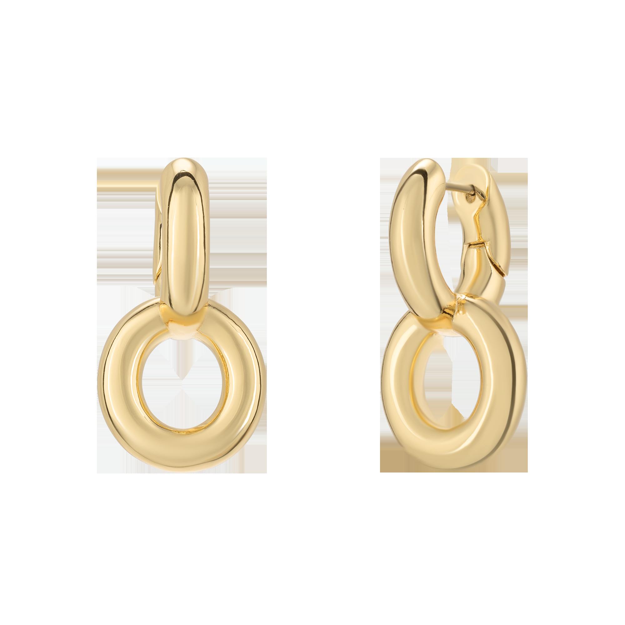 Golden massive earrings product image