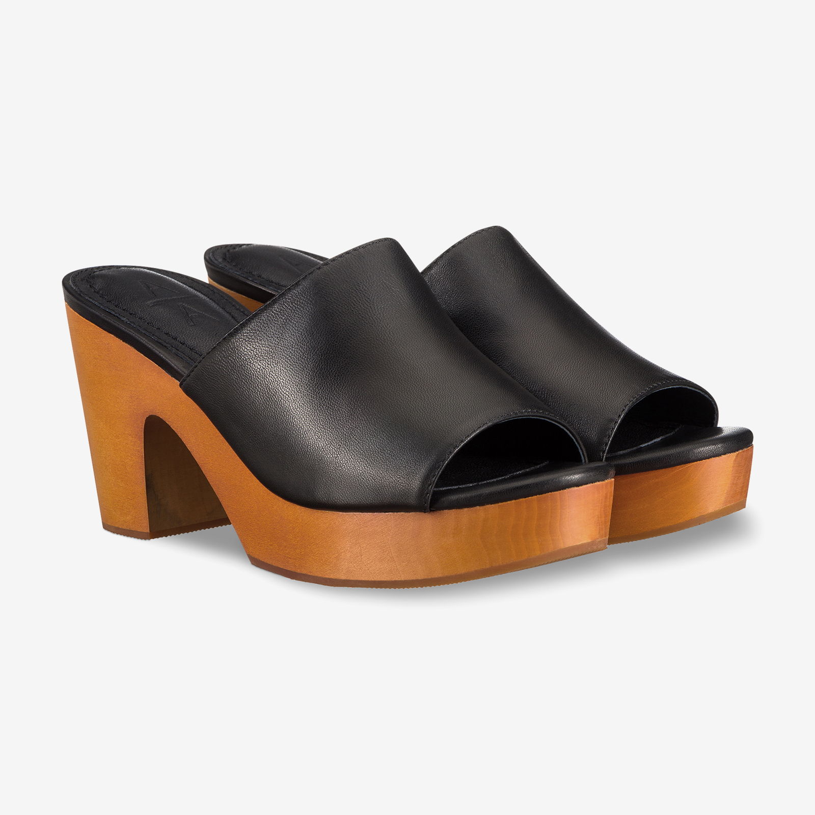 Black wedges product photography