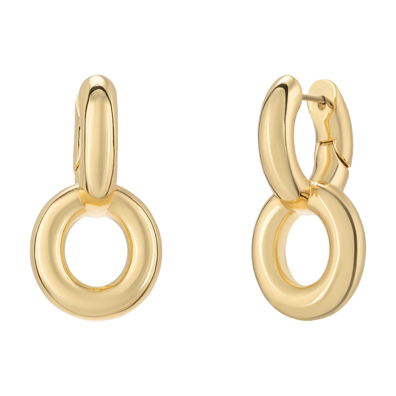 Golden earrings product photo