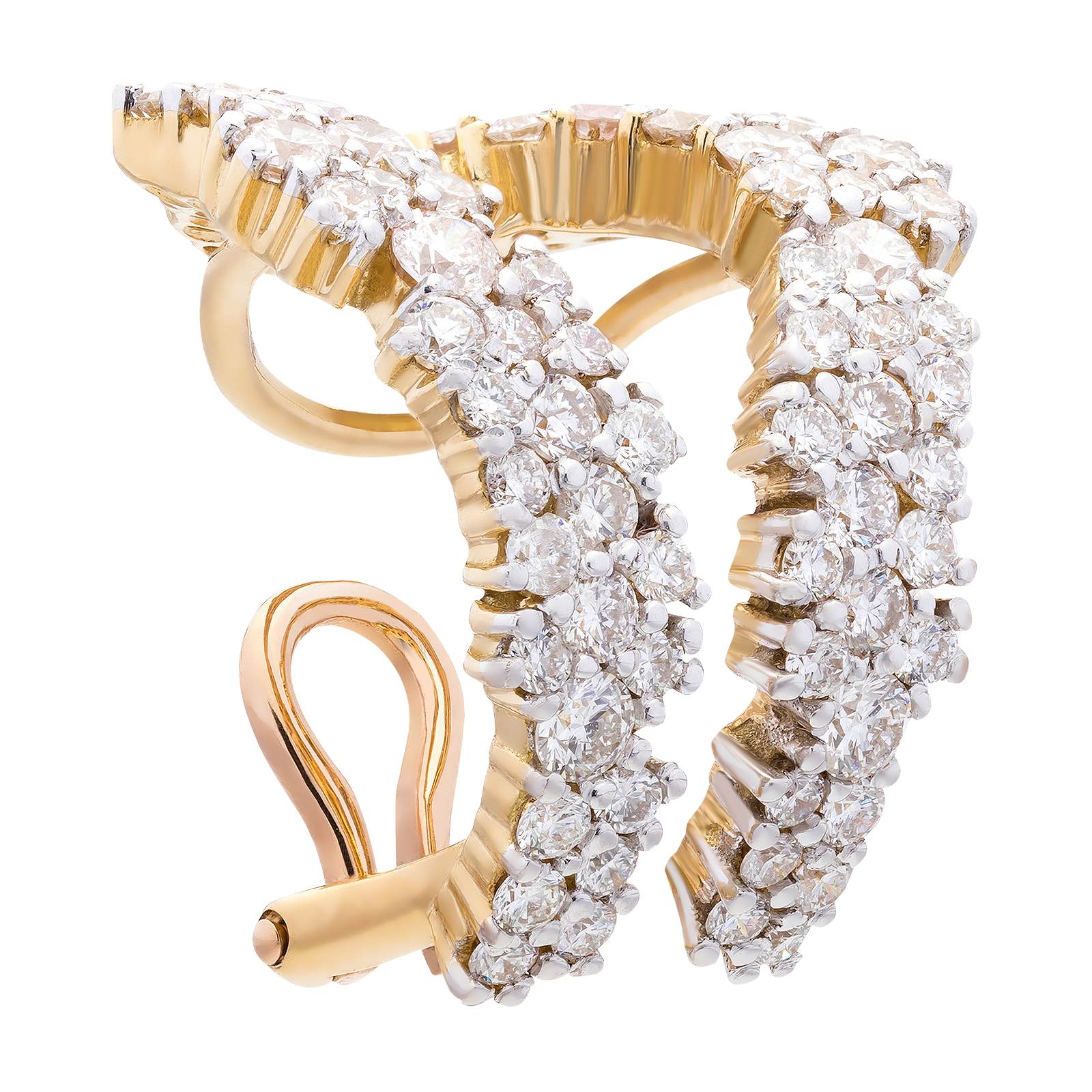 Diamond earring product photo