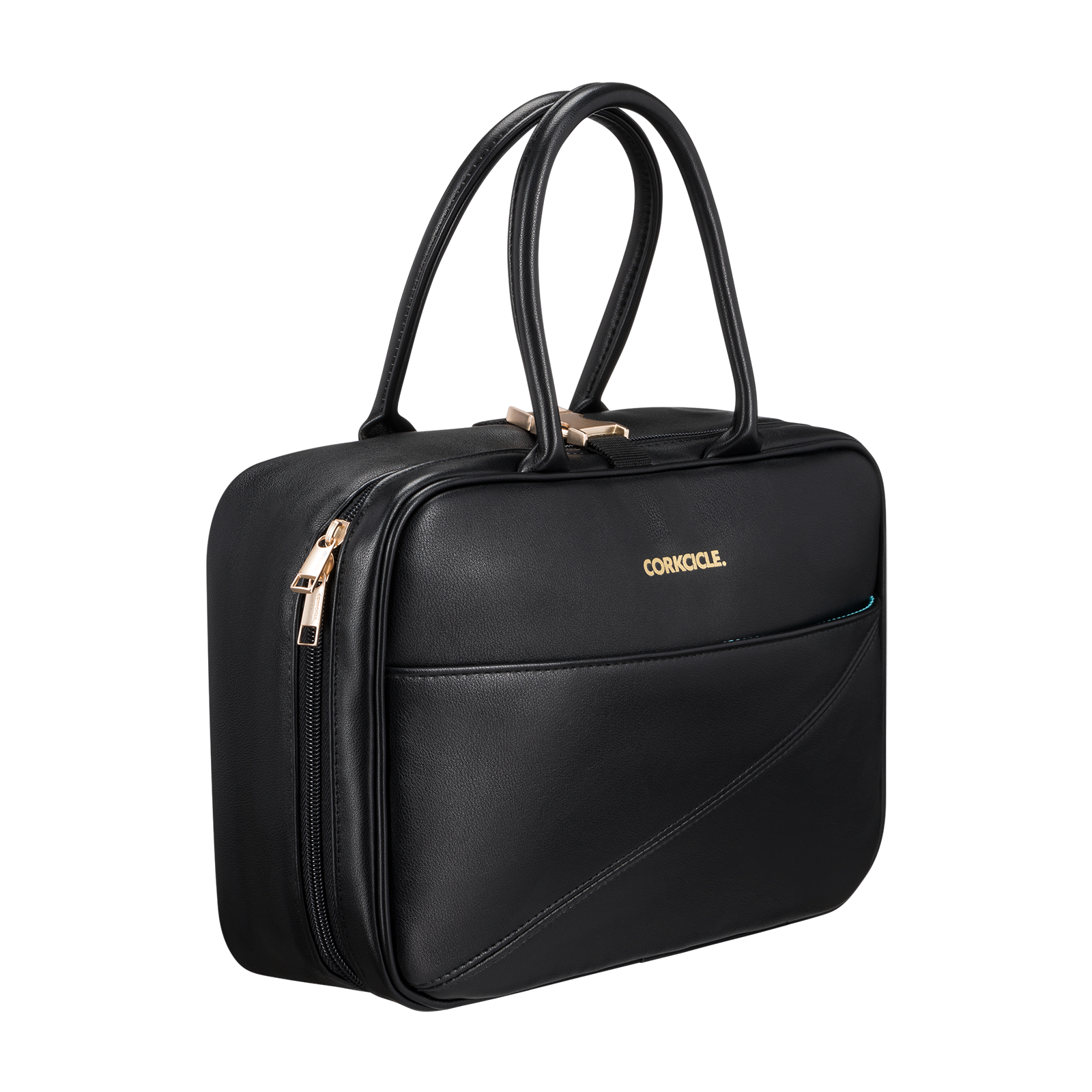 Black handbag product photo