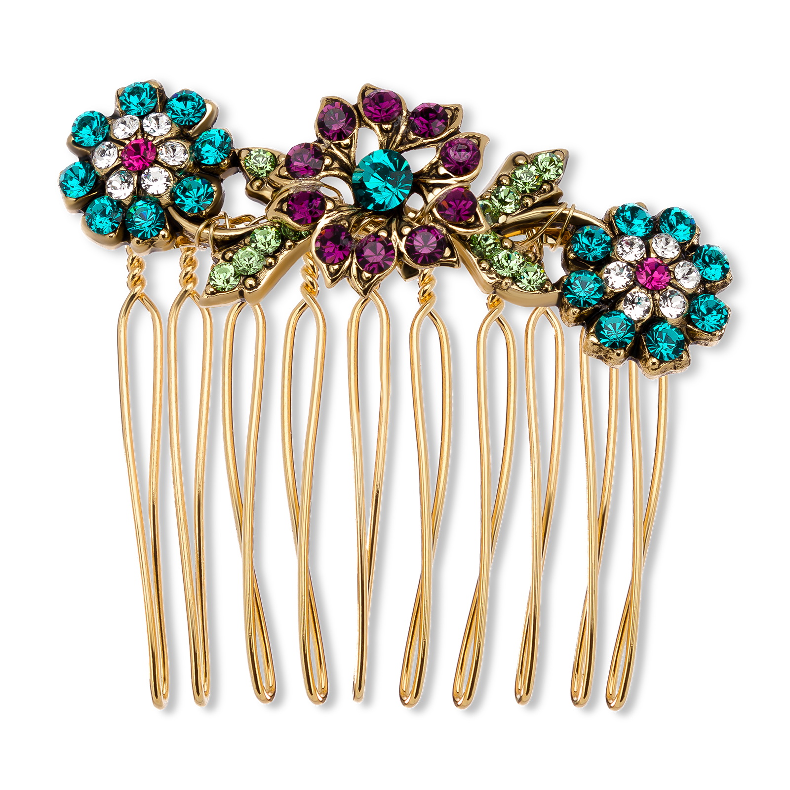 Decorative hair comb product photography