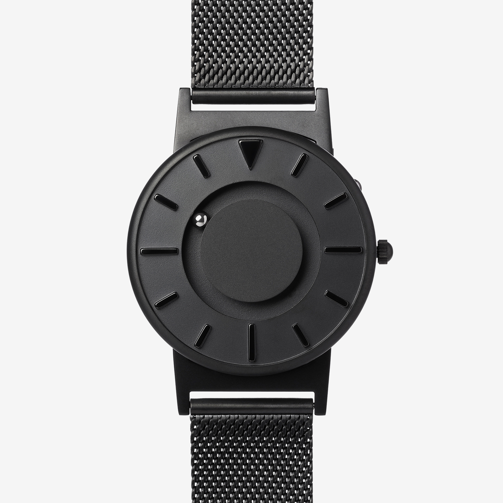 Black metal watch product image