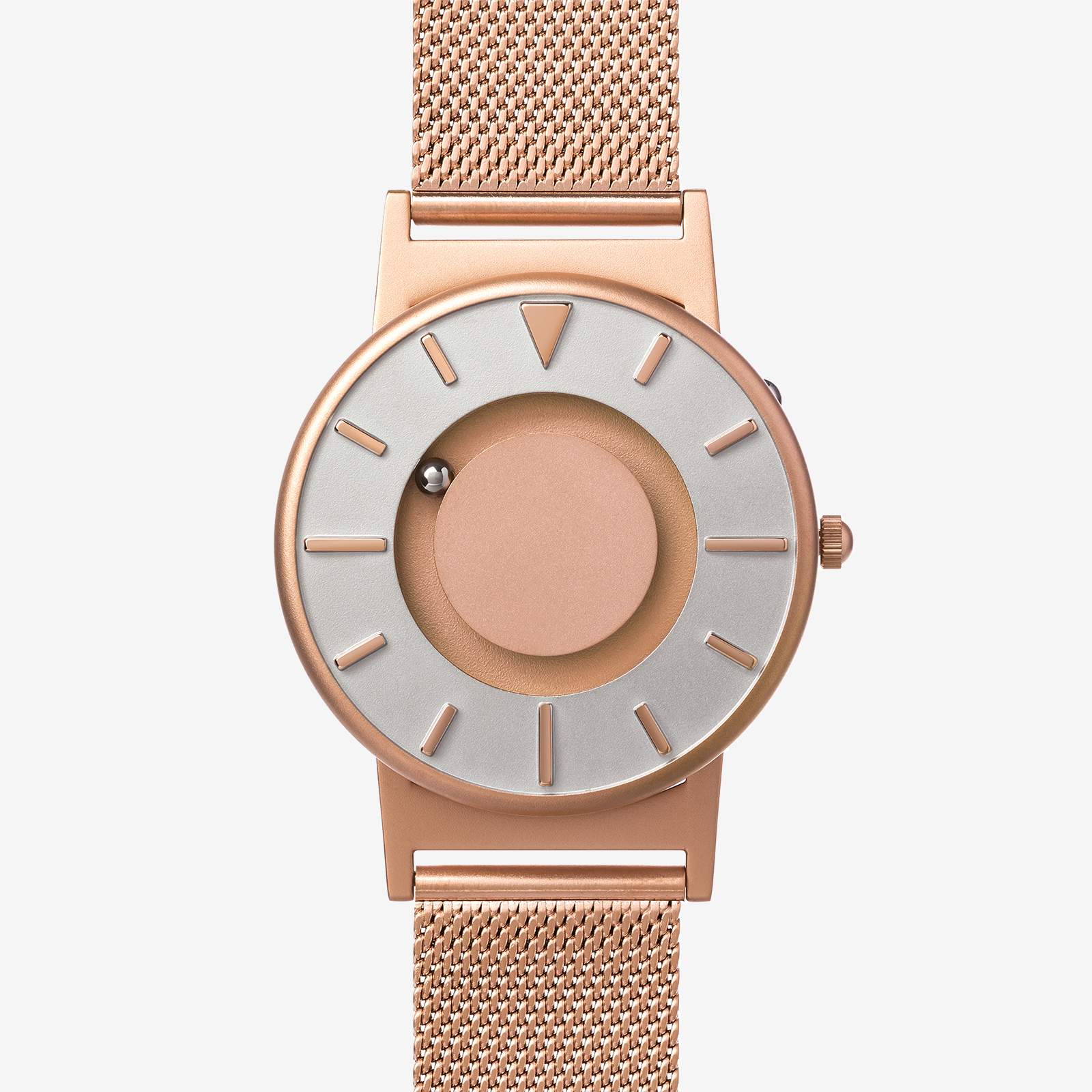 Rose gold watch product photography