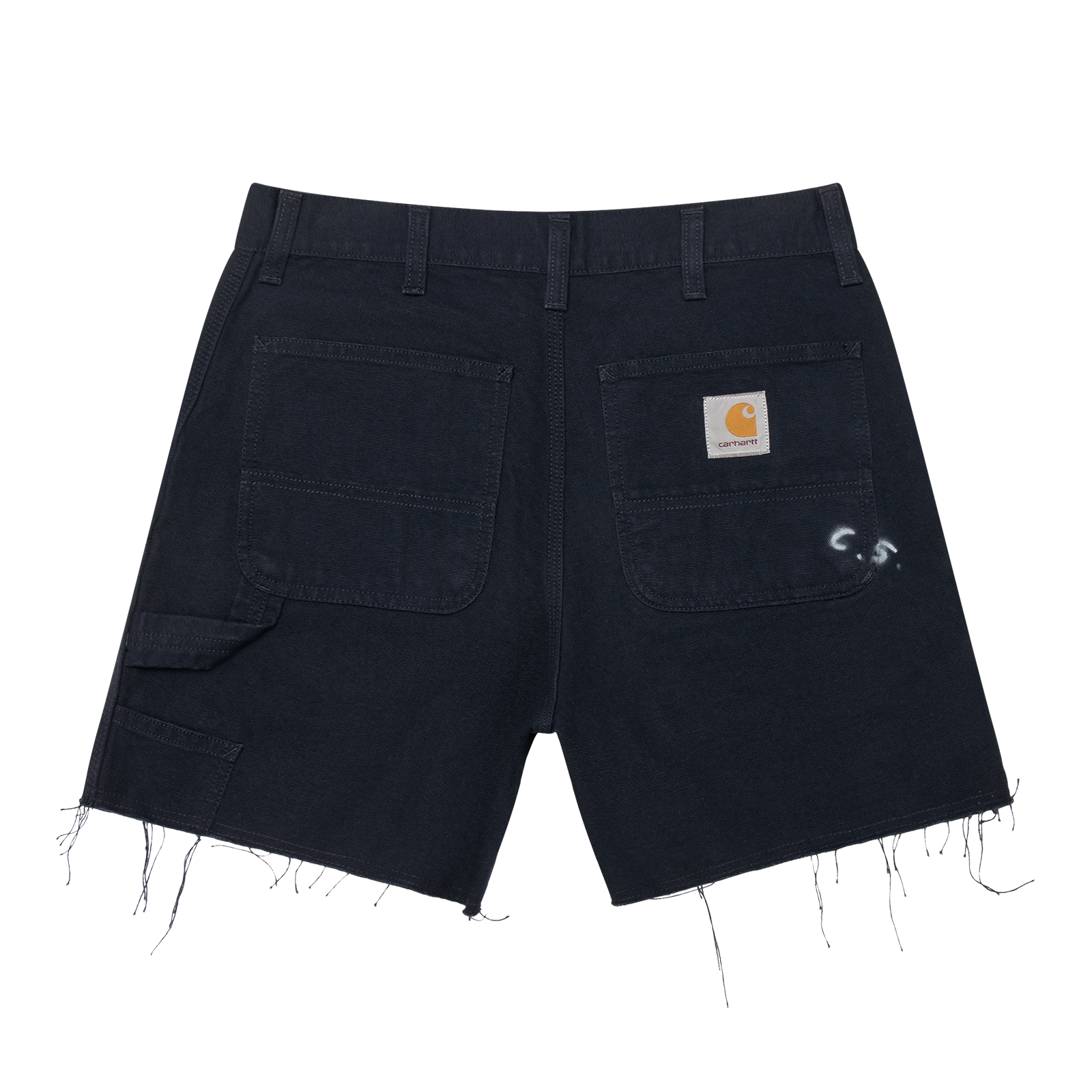 Flat lay shorts product photo