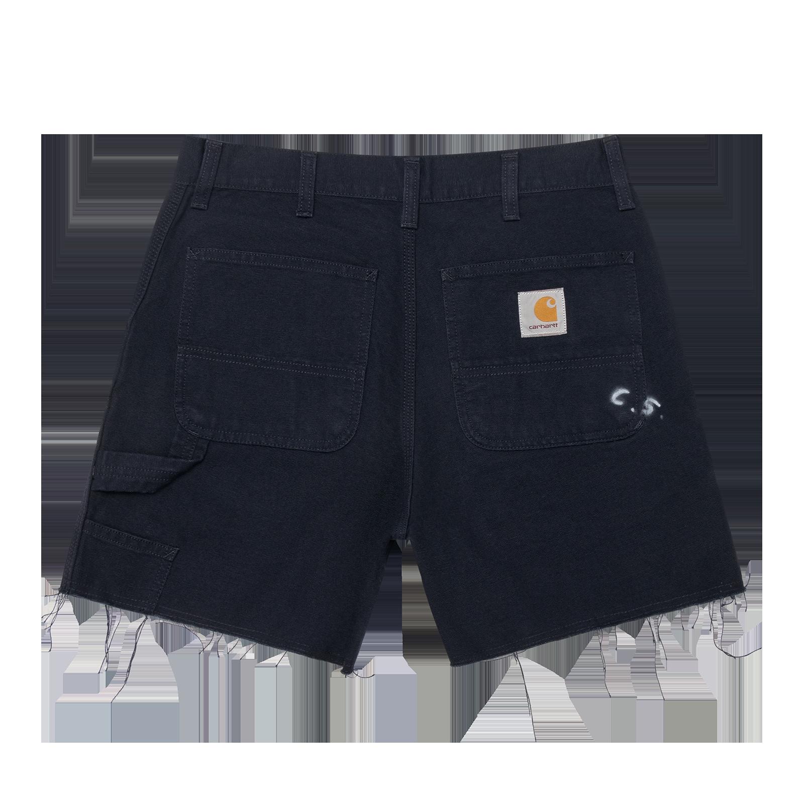 Flat lay shorts product photo