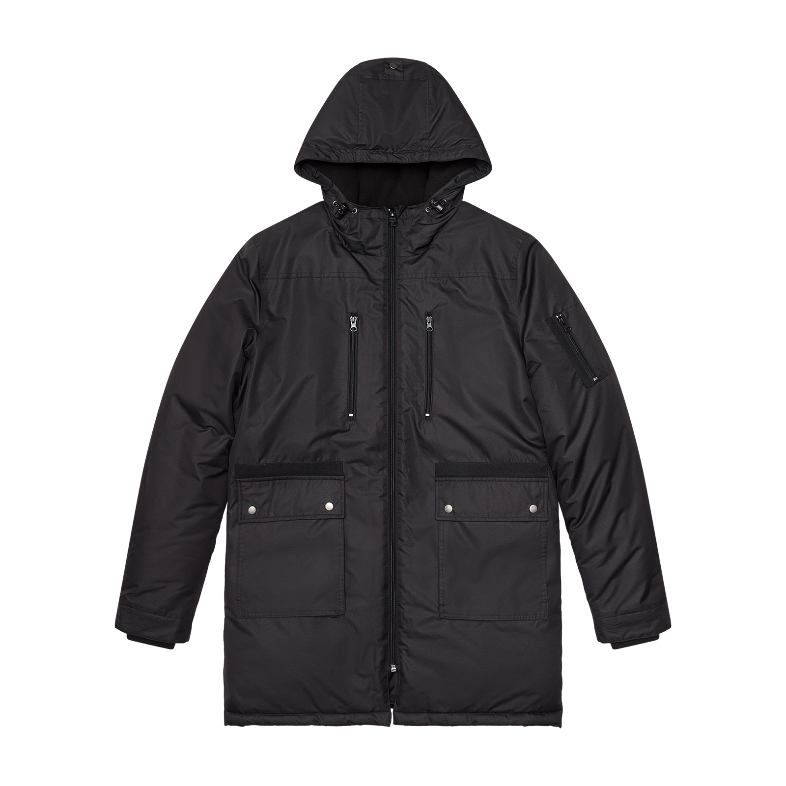Black coat product photo